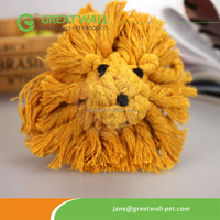 Best popular Tiger animal shaped rope pet toys for dog