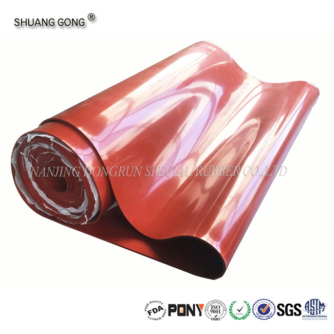 Hot selling products red solid transparent Silicon rubber sheet/ silicone rubber