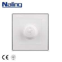 Naling Trade Assurance UK Standard Fan 3 Speed Rotary Control Adjust Wall Switch