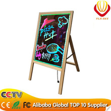 2016 hot product led writing board with tripod, wooden led board remote control CE ROHS FCC approved factory direct