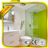6mm flat tempered glass shower screens with AS/NZS 2208