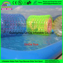 Inflatable Water Pool Roller Giant Colorful PVC Pipe Inflate Ball Roll On Water Toys