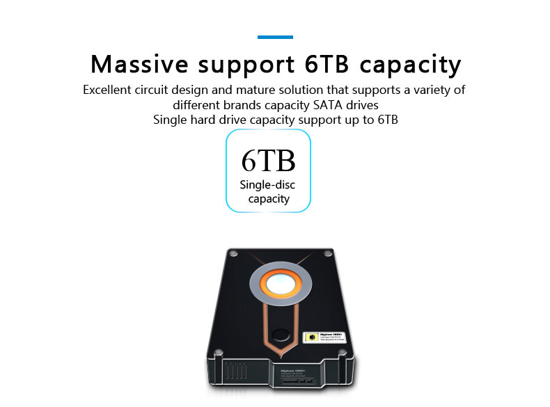 With HUB Function 1 Bay USB 3.0 SATA External Hard Disk Drive Docking Station For 6TB hdd
