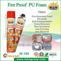 Spray insulation fire resistant PU foam