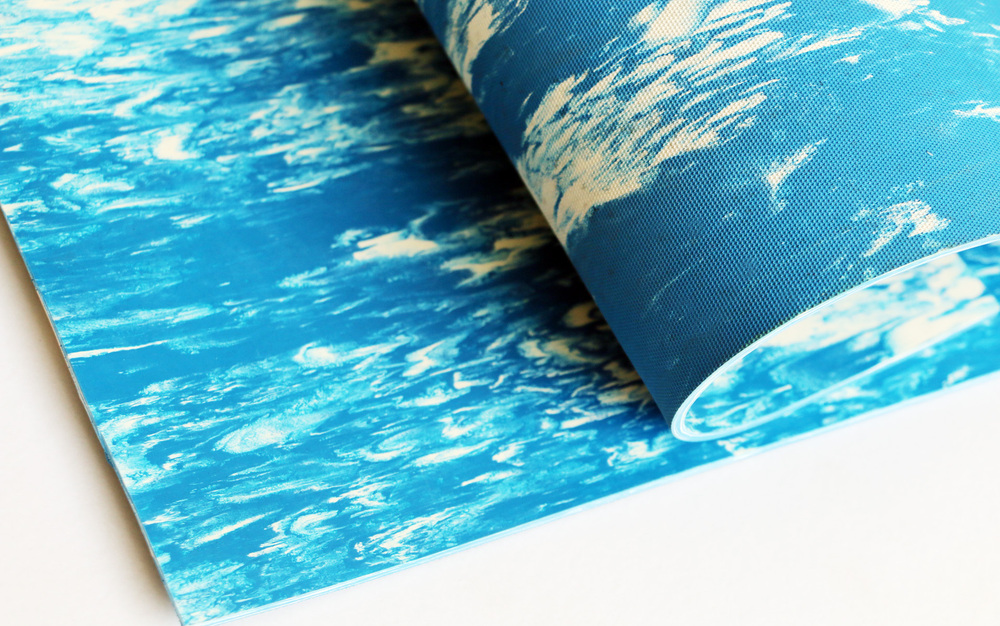 Marbel rubber mat,2-6mm*1200-1500mm*1-20m black and blue good looking