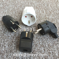 France /Germany EU 2 pin 3 pin secure electrical plug wireless power plug