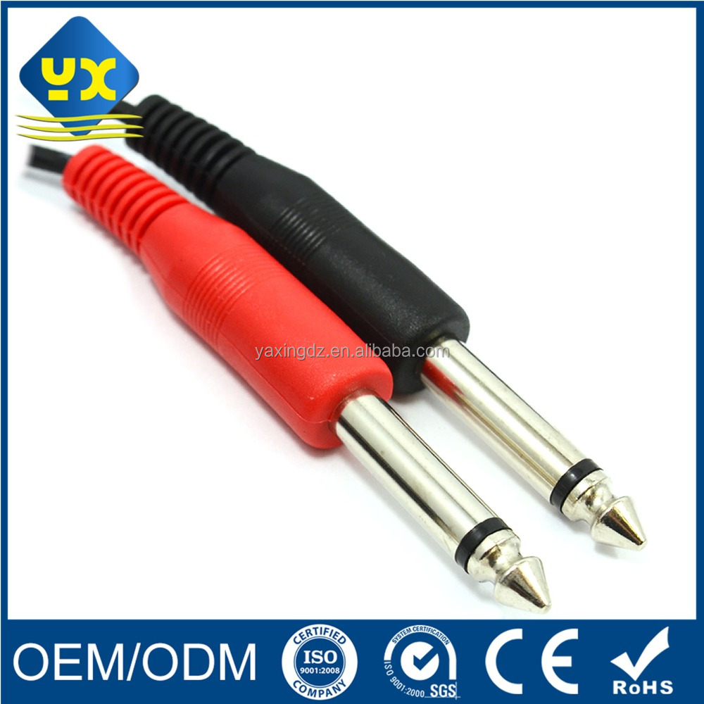 6.35mm Male to Male Audio Cable 6.35mm Mono Jack Guitar Coiled Interconnect Cable
