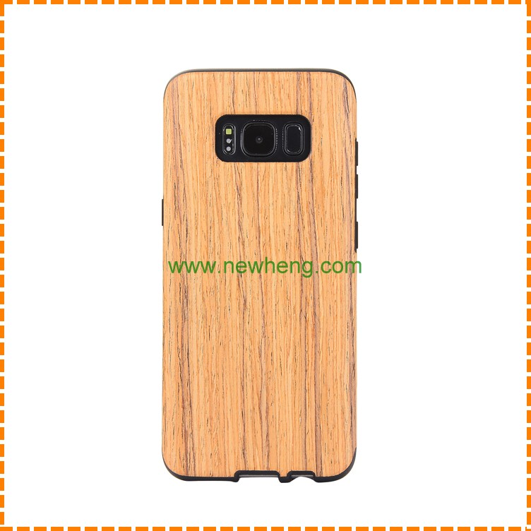 Wholesale lifelike wooden grain hard Tpu back cover case for Samsung Galaxy S8 Plus