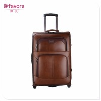 Factory price carry on abs marketing bags colourful pu luggage multiple colors