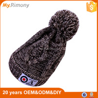 2016 fashion heavy knitted hat crazy winter hat with pom