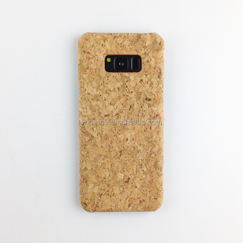 Factory price cork wood phone accessory cases for Samsung S7, China case mobiles cover for Samsung S8
