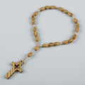 christian wood bracelet with cross