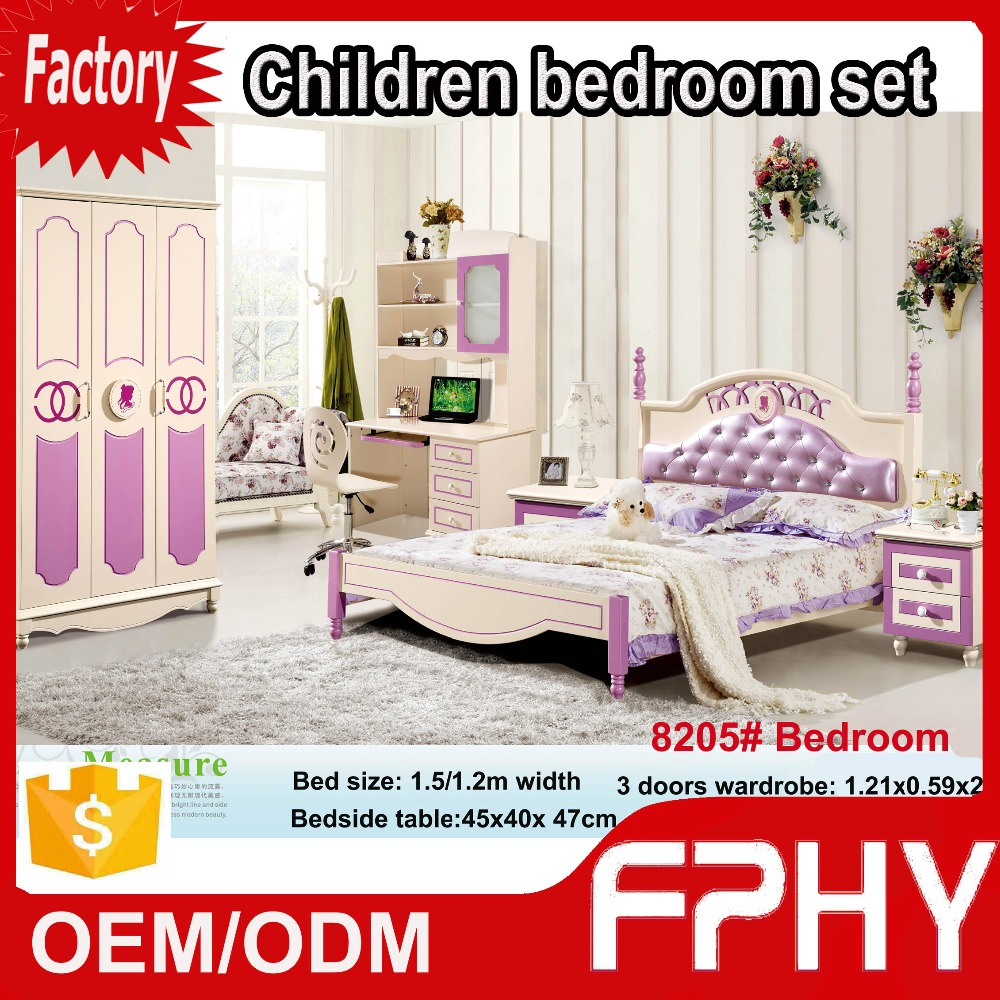 2016 GuangZhou CIFF FPHY 82 series MDF Solid Wood Matte kids furniture wholesale