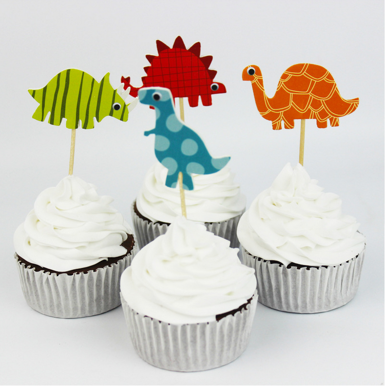 2016 Hot Sale Dinosaurs party Decoration Cupcake Topper Picks/cupcake decoration