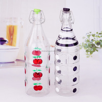 hand drawing food grade glass juice bottle