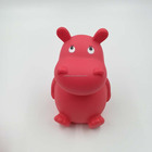 Plastic animal shape hippo money box coinbank piggy bank