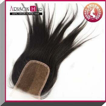 fashion style 2 way part lace closure with baby hairs
