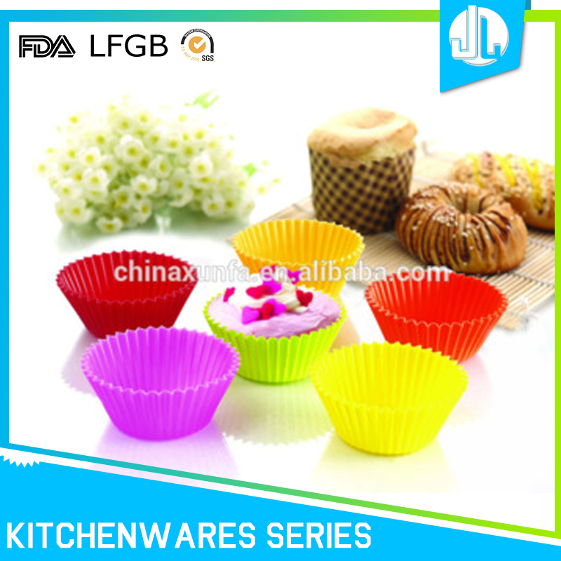 Home kitchen useful non-stick silicone baking cake cup