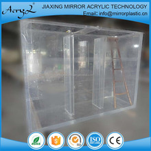 Clear square large acrylic fish tank