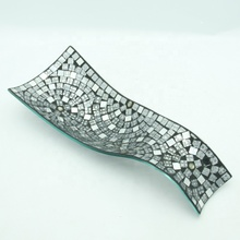 Mosaic glass <strong>plate</strong> set Modern style made in China home decoration