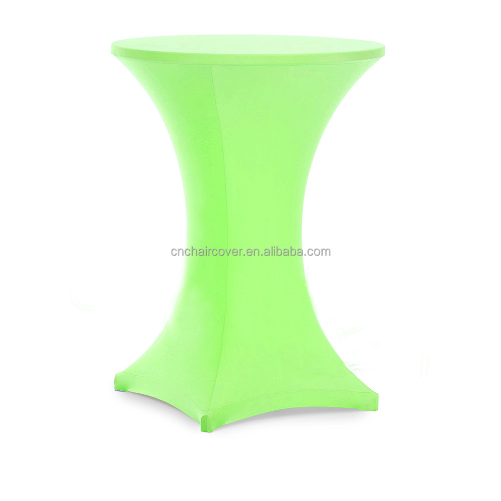 20 Colors Polyester Dining Cocktail Table Cover For Wedding