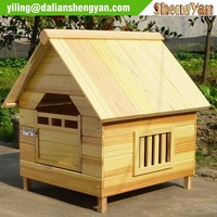 Natural solid wood kennel, dog house