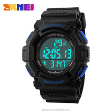 New Arrival Wholesale SKMEI Brand unisex sports Watch PU Band Watch 5ATM Waterproof
