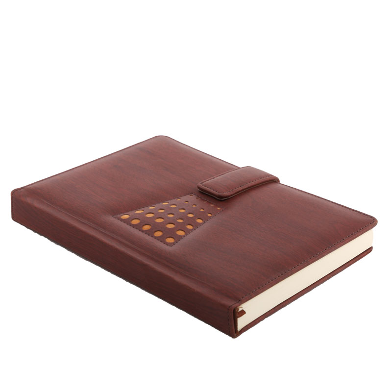 Fashion pu leather cover Cheap And Fine Grey Color Kraft Notebook