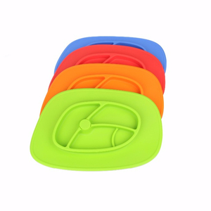 Safety BPA Free Silicone Kids Melamine Divided Plate Set