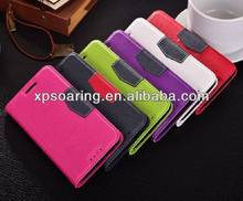 Credit card stand leather case pouch for HTC one M7