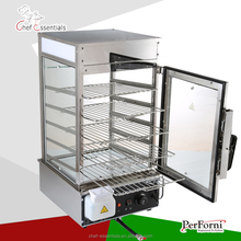 2017 New design PFGM.500L Stainless steel Chinese bun steamer glass food warmer display showcase for bread steamer