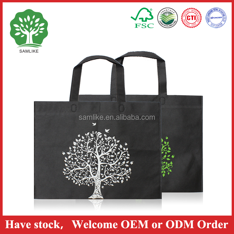 2016 new Promotional Cheap Customized Eco Fabric Tote Non-Woven Shopping Bag, Recyclable Non Woven Bags
