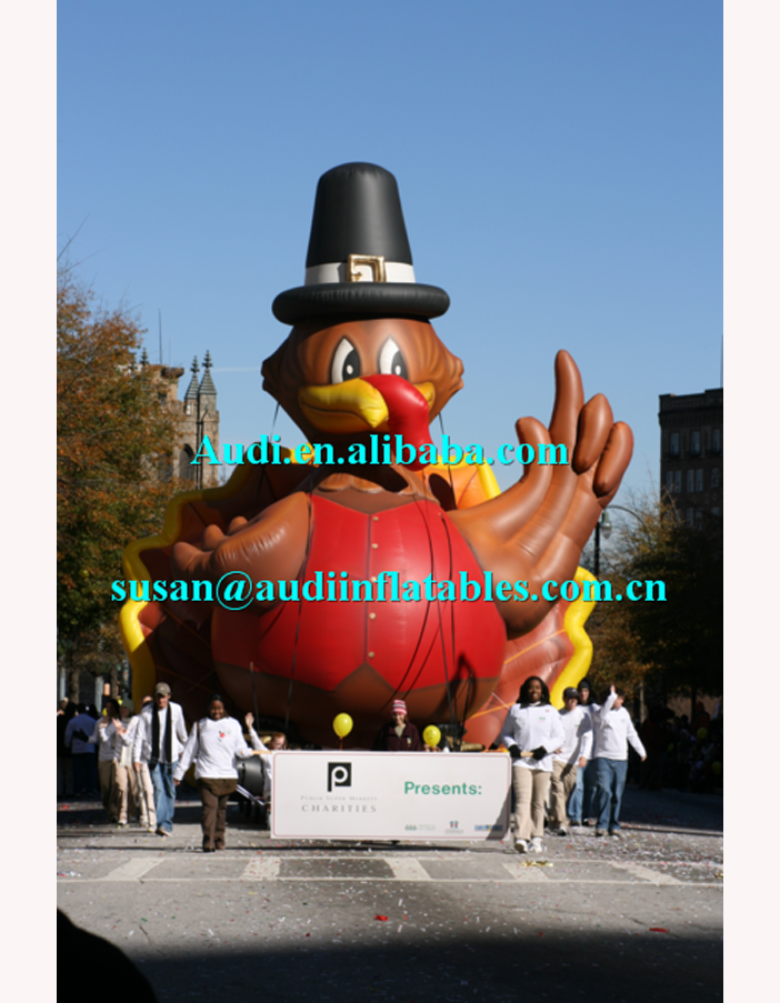 inflatable cold air balloons ,parade ballons ,tom turkey holiday inflatables replica