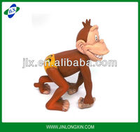 mini plush cartoon monkey small plastic animal figurines