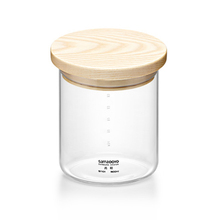 Samadoyo High-end Glass Storage Pots/ Cans/ Jars with Wooden Lid 300ml to 1400ml