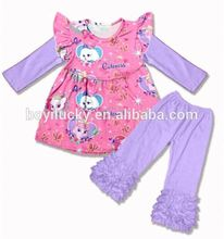 2017 Persnickety Girls Outfits Wholesale Children's Boutique Clothing Floral Kids Clothes