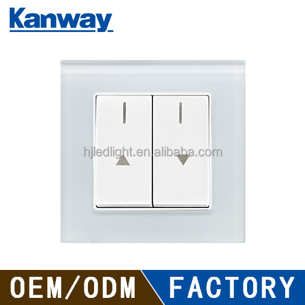 10A electrical roller curtain shutter wall switch