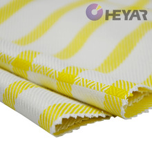 Bright Yellow and White Stripes Organic Fiber Bamboo Fabric