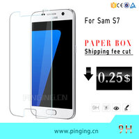 PinJun Phone Accessories 9H Hardness Screen Guard For Samsung S7 Tempered Glass, For Samsung Galaxy S7 Screen Protector