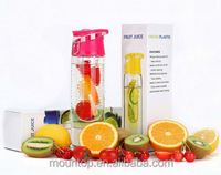 Fruit infuser water bottle disposable 24oz BPA Free, Made With Tritan Plastic & Leak Proof fruit infuser water bottle