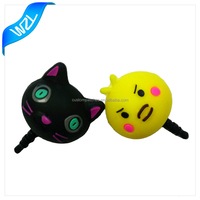 2016 Custom cute animal earphone dust plug