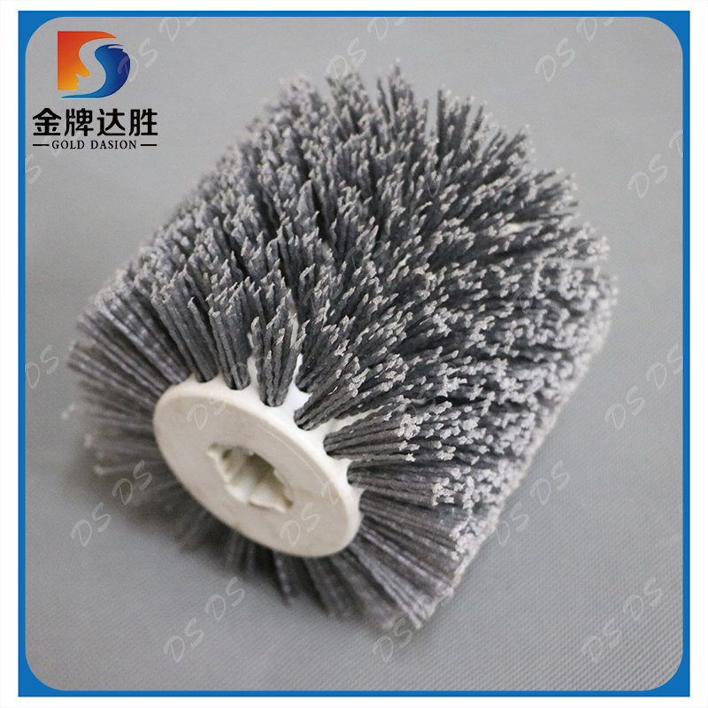 Abrasive Nylon Roller Brushes Scrubbing And Deburring Surface