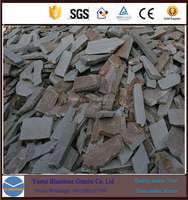 Hot Sale Chinese Natural Slates Cheap Flagstone For Floor Pavement rusty slate