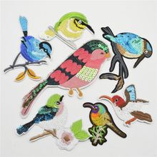 Bird Sequin Embroidered Sew Iron On Patch Badge Fabric Applique Lace Trim