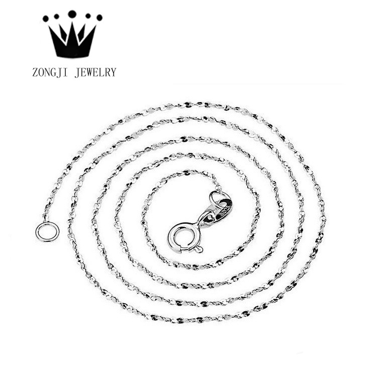 Wholesale 925 Sterling Silver Jewelry Fancy Necklaces Starry Sky Chains for Women