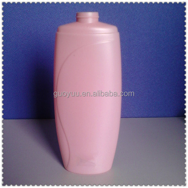 400ml empty HDPE Pink Flat airless Shampoo Bottle
