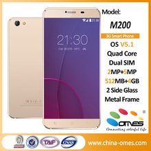 M200 OEM Android 5.1 3G Quad Core Low End Cheap gold mobile phone