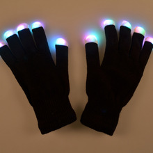 Amazing Colorful Flashing Novelty Toys Children LED Finger Light Gloves for Kids