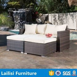 Outdoor day bed honey teak color with german wicker & aluminium frame