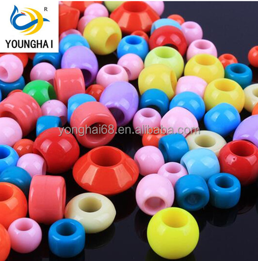 Acrylic Beads Color Mix Large Hole Beads Diy Bracelet Accessories
